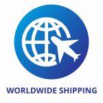 WORLDWIDE SHIPPING Blue
